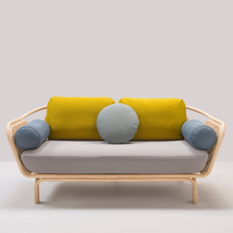 bÔa sofa in rattan designed by at once
