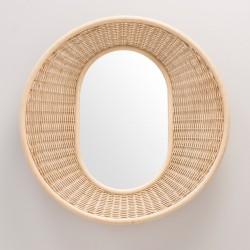 ONDE rattan mirror