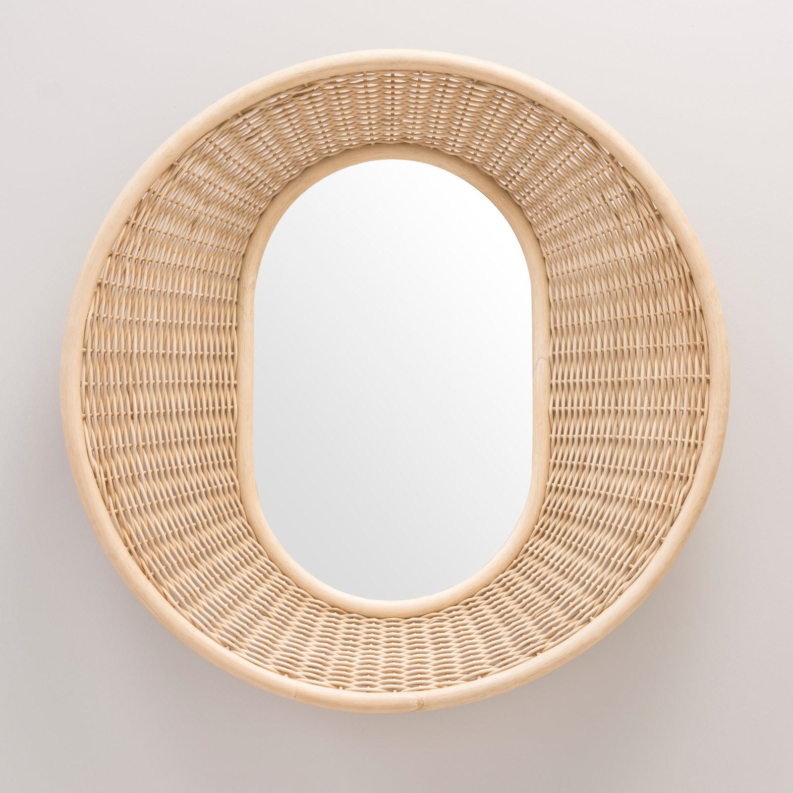 Mooyod Pendant Miroir Rotin Tournesol Circulaire Miroir Mural D/écor Boho Osier Coiffeuse Maquillage Miroirs