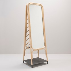 Miroir sur pied en rotin PANÔ
