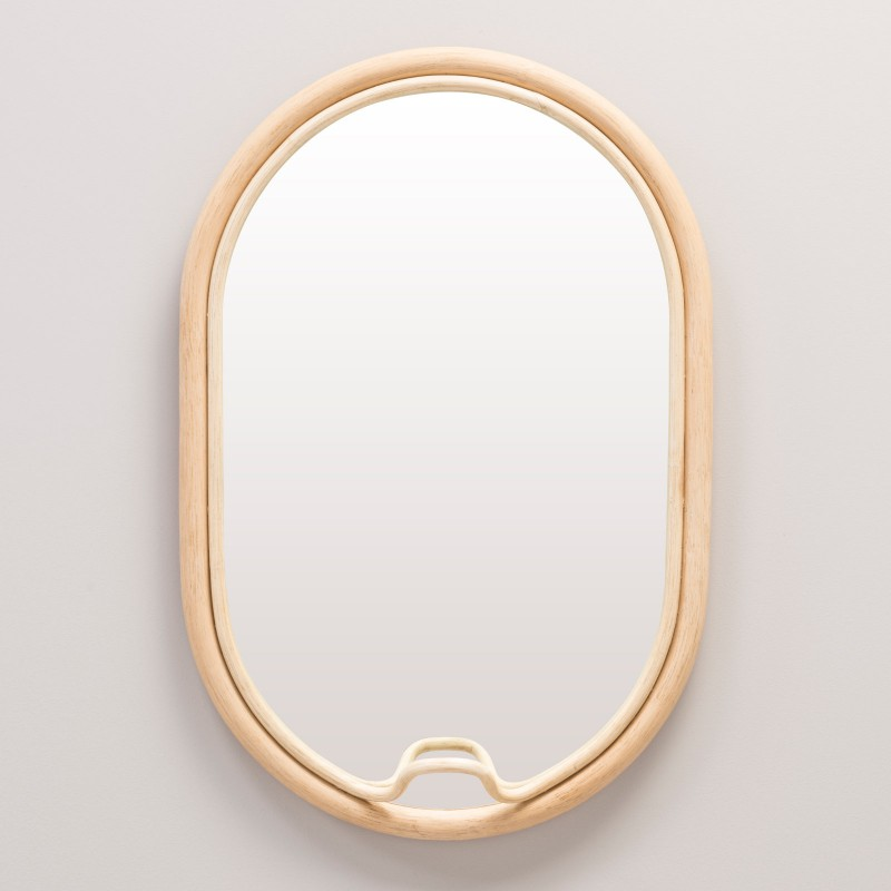Miroir en rotin design ovale LASSO