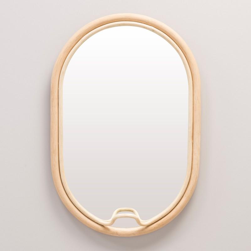 LASSO oval rattan design mirror