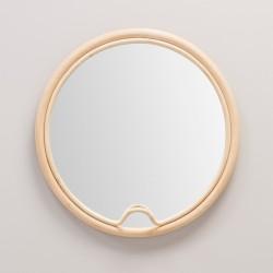 Miroir en rotin design LASSO rond