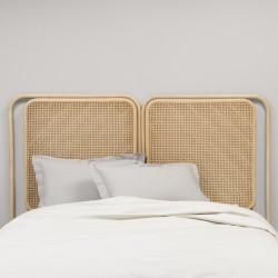 Tête de lit en rotin PASSAGE - lit double en ambiance