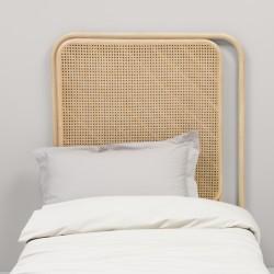 Tête de lit gauche en rotin PASSAGE - lit simple en ambiance