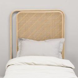 Passage right single rattan headboard