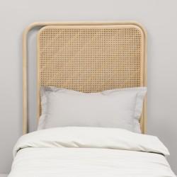 Tête de lit droite en rotin PASSAGE - lit simple en ambiance