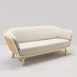 BÔA sofa with Migliore off white cushions designed by At-Once