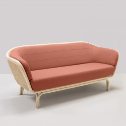 BÔA sofa with red Capture 4802 fabric designed by At-Once