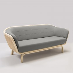 BÔA rattan sofa grey Mood 1102 fabric designed by At-Once