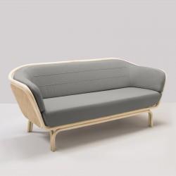 Canapé en rotin BÔA tissu gris Mood 1102