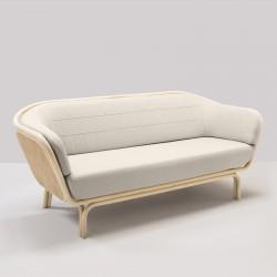 Canapé en rotin BÔA MIGLIORE tissu client