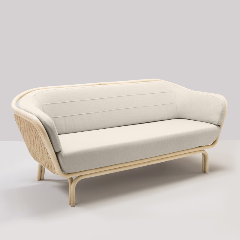 BÔA sofa in rattan designed by At-Once customer's own material