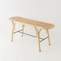 TRAVERSE design rattan bench by AC/AL Studio for Orchid Edition