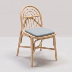 Chaise en rotin design SILLON avec coussin Medley gris de Gabriel Fabrics