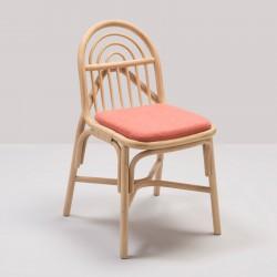 Chaise en rotin design SILLON avec coussin Capture rose de Gabriel Fabrics