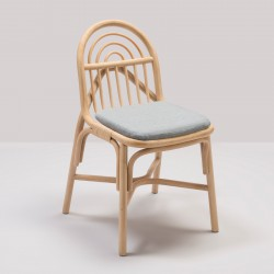 SILLON design rattan chair with Mood grey fabric cushion