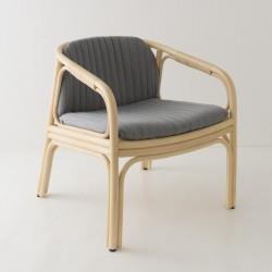 HUBLOT design rattan armchair MOOD grey