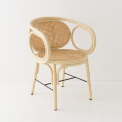 CONTOUR rattan table armchair by AC/AL studio for Orchid Edition