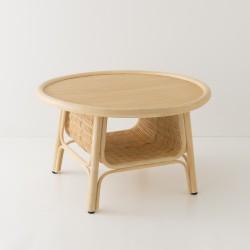 Table basse en rotin design CORRIDOR