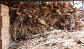 The preparation of the rattan material